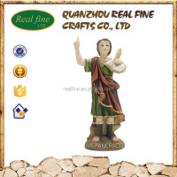 Handmade resin religious figurine S.Pancracio relief sculpture craft for wholesale decoration