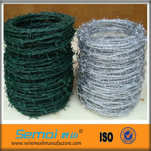 Cheap Plastic Heavy Duty Colored Drawing Bulk 3-strands SWG Galvanized Military Weight Barbed Wire