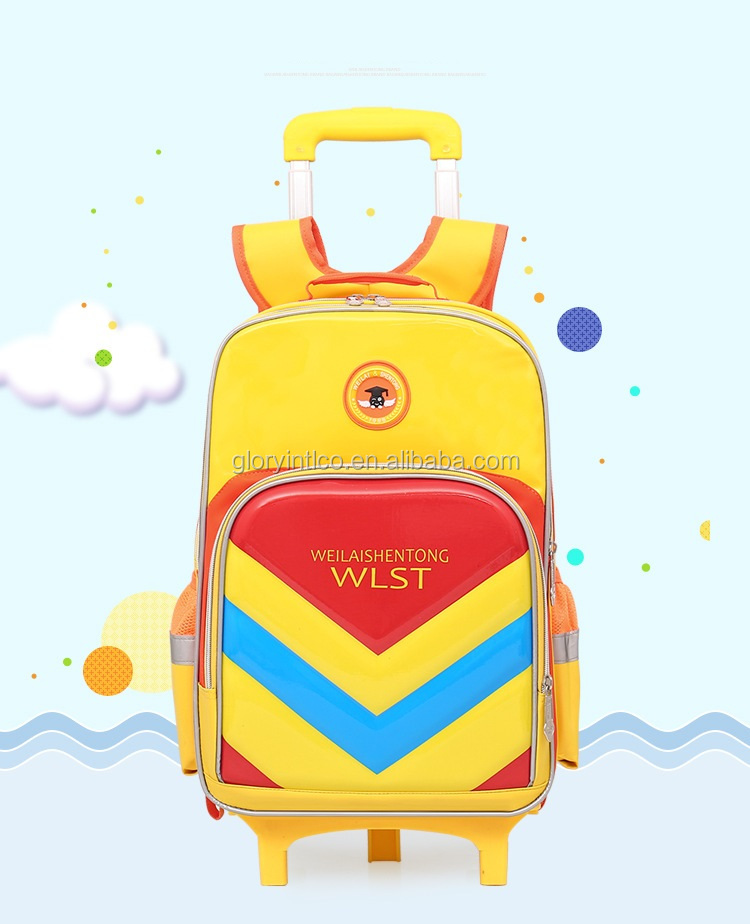 China High quality trolley bag travel bag high school student backpack with wheels
