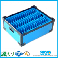 pp plastic corrugated knife card crates