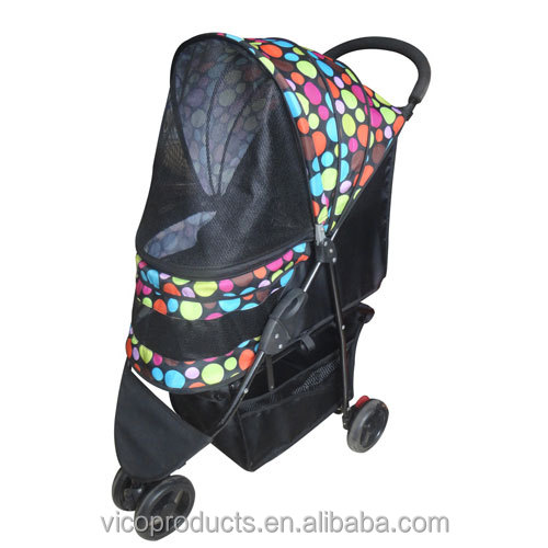 Three Wheels Foldable Pet Dog Stroller