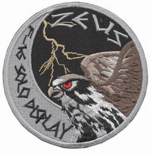 Hellenic Greek Air Force F-16 Solo Display Zeus swirl patch
