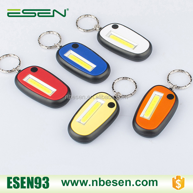 COB Pocket Key Chain Flashlight Portable led tent Light With Carabiner