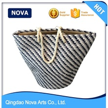 Cotton Rope Handle Paper Straw Bag