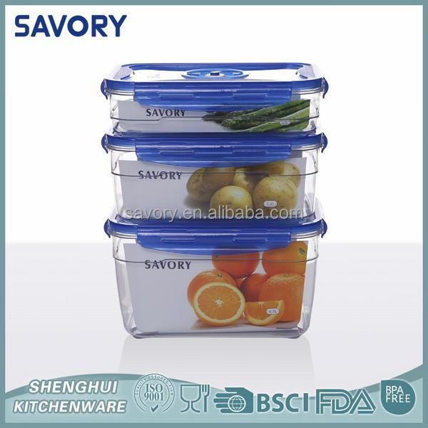Low price Fresh Keeper Rectangle Plastic box sets / large food containe