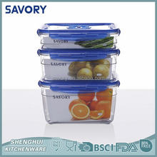 Low price fresh keeper rectangle plastic box sets large food container