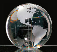 Clear crystal globe ball for souvenir or business gift