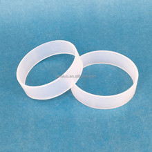 Custom silicone band unbreakable elastic transparent silicone rubber band