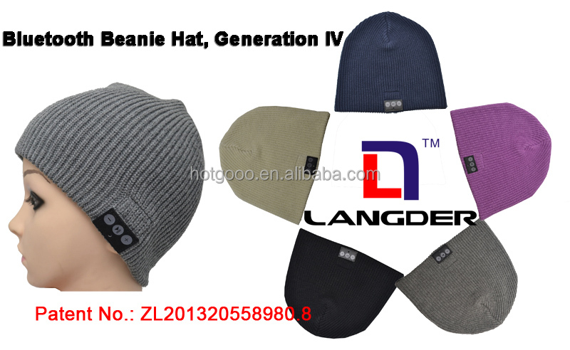 Music cashmere Cap Hands-free Phone Call Answer Ears-free Beanie Hat
