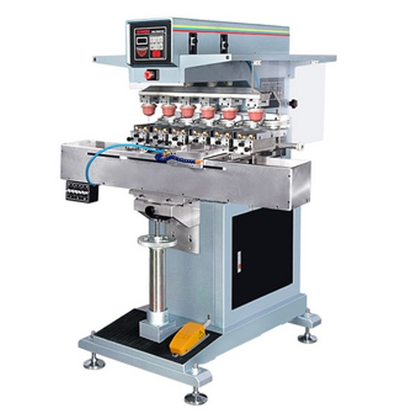 6 colors watch dial pad printing machine