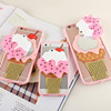 Cool Summer 3D Icecream Ice Cream with Mirror Design Soft Back Case For iPhone 7 7 plus 5 5S 6 6S 6plus Cute Cover Phone Bag