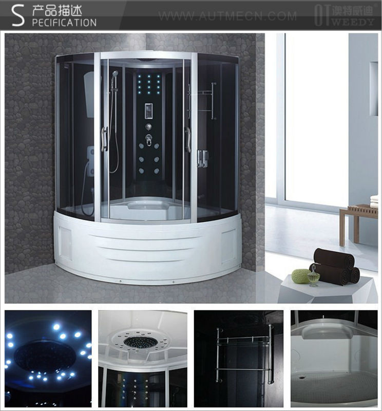 Autme popular 2 person large size steam shower room