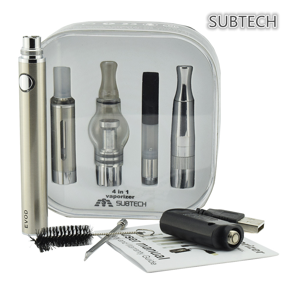 good manufacturer e-cigarette 4 in 1 kit ultrasonic atomizer with evod battery