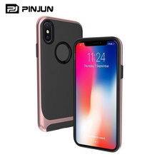 Luxury new design dual layer cover protective bumper case for iphone x tpu pc shockproof case