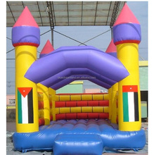 Modern arch castle inflatable rental bouncer