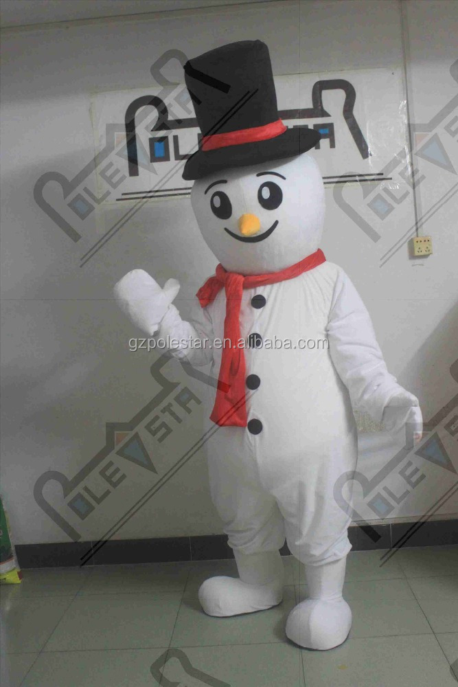 cartoon snowman mascot costumes hot snow man walking actor