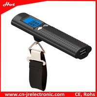 High Capacity Fashion Usb Power Bank Portable External Battery with led flashlight and luggage weighing scale function