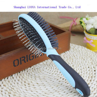 China goods new fashion two-faces pet hair brush dog grooming brush