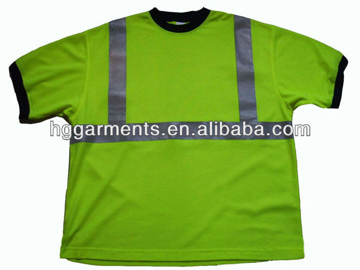 Short Sleeve Hi Vis Safety Workwear T-shirt
