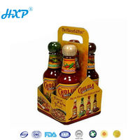 Cardboard box 2C 1-Layer SBB Offset full color strong six food bottles