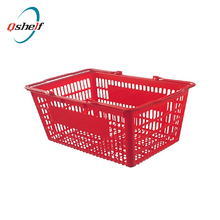 High Bright Chrome Metal Wire Shopping Basket