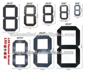 alibaba hot sale 7 segment led display module