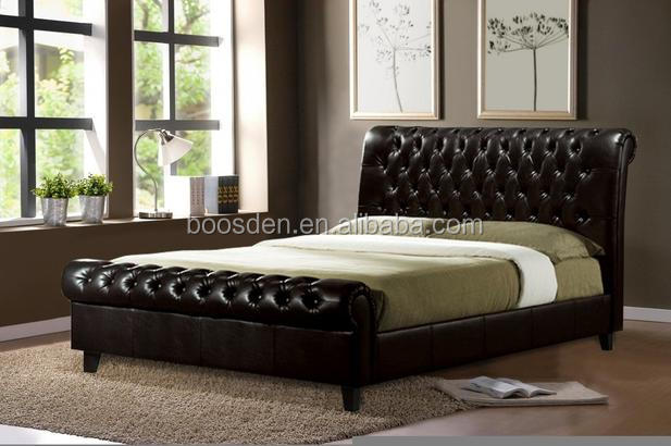 handsome comfortable PU wooden bed frame hot selling leather Bed BSD-450101
