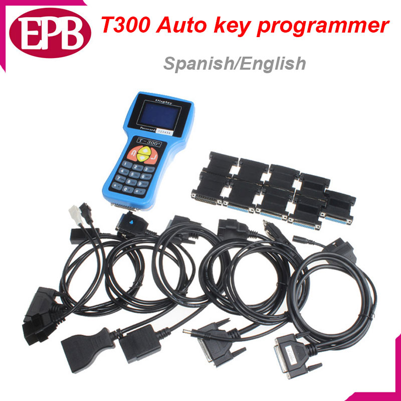 Newest T300 Key Programmer V16.8 T 300 T-300 OBD2 Auto Key Transponder English Spanish Optional T300 T-code Key Diagnostic Tools