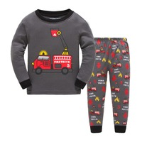 latest autumn winter boutique Childrens Clothes Sets Boys Pajamas Long Sleeve Children Sleepwear 100% Cotton Kids Pyjamas