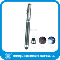 multifunction 4in 1 laser projector pen led light and touch ball pen
