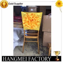 Yellow Wedding Banquet Satin Band For Chair Cover Decoration