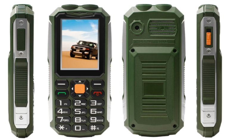 Hot Sale China Waterproof Rugged Phone GPS 2.4 inch Low Price Flashlight Feature Phone