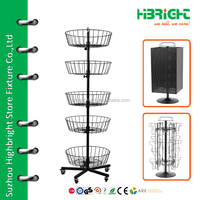 rotating wire basket rack
