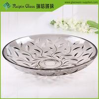 European style decorative glass plate round wholesale