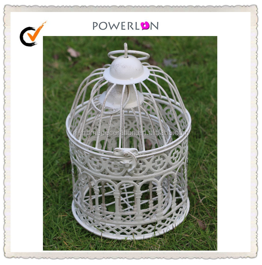 Discounted Small Bird Cage, Table Decoration Of White Mini Metal Bird Cage