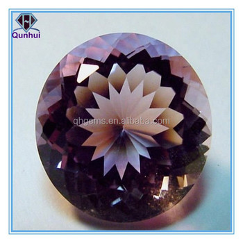 winsome round shaped any color cubic zirconia gemstone