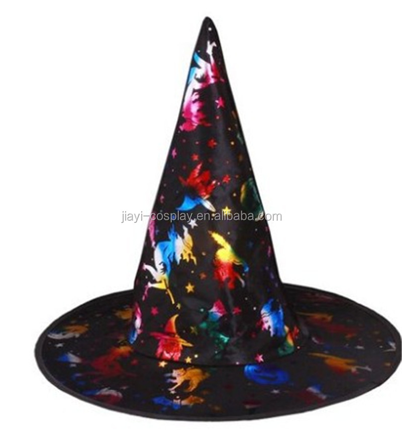 Ladies Black Sorceress Witch Wizard Halloween Fancy Dress Costume Long Robe Hat