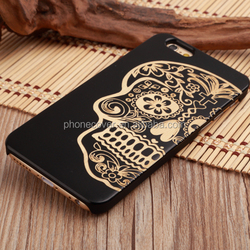 black oil wooden cell phone cases for iphone 6Plus,laser engraved wood phone covers for iphone