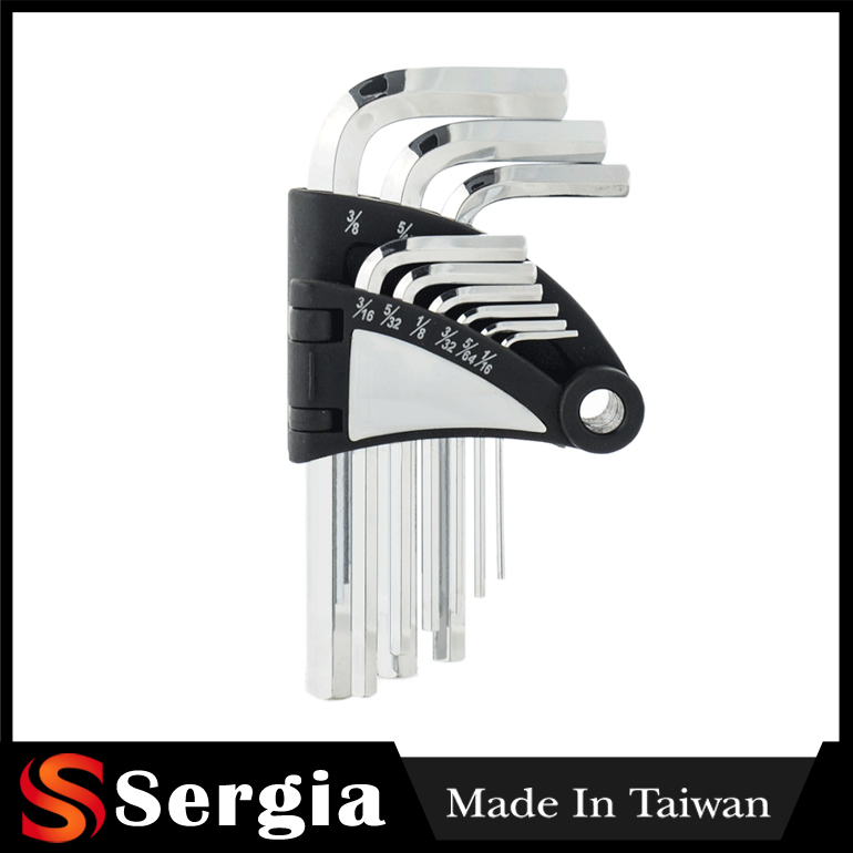 Allen Key Screwdriver And Hex Key Set Is Taiwan Made 9 Pcs Short Plastic Allen Key