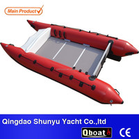 2015 CE certificate 4.3m best-selling hypalon inflatable catamaran