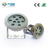 Above ground underwater led swimming pool light remote control with warm white