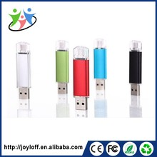 Customized Logo Imprinted Dual Double Plug Interface Otg Mobile Phone Pc Good Quality Customised Usb Flash Drive