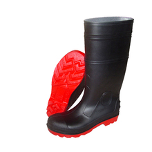 high quality industrial pvc steel toe working boots with low price manufacture