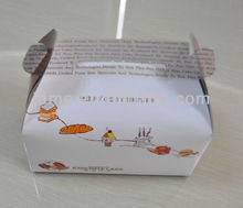 2016 Guangzhou cheap food grade craft paper packing boxes in CMYK color& highly laminated