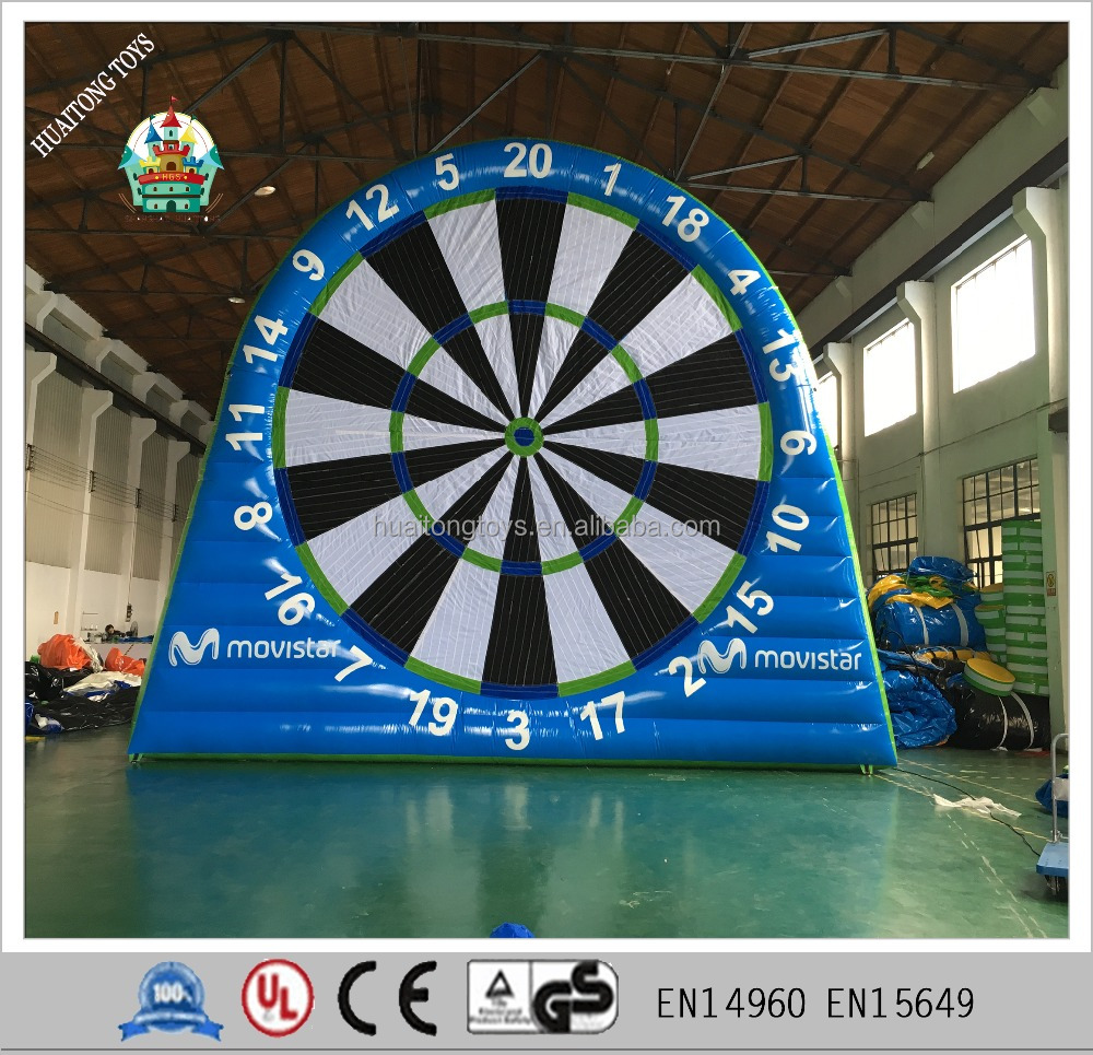 Giant inflatable shoot velcro target football funny sport game for kids and adult