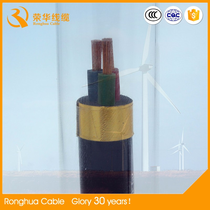 Rubber coated underwater flexible electrical cable