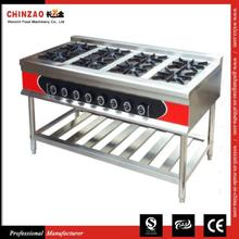 CHINZAO Chinese Novel Products On The Market Hotel Cooker Universal Gas Stove With 8 Burners Japanese
