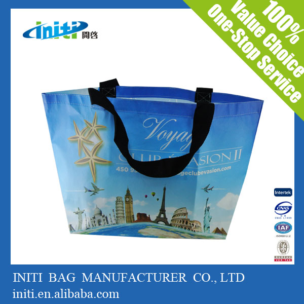 2014 Hot sale PP non woven laminated tote shopping bag for shopping or promotion