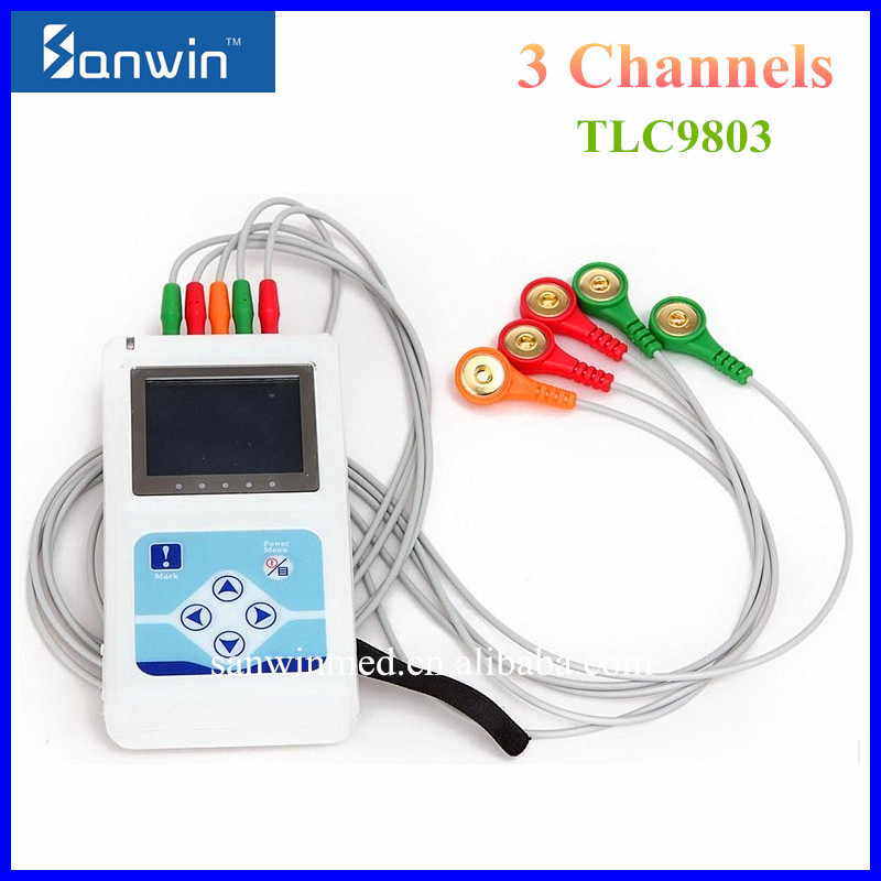 CE Approved Life Care 3 Channel 24-hour Holter ECG Machine