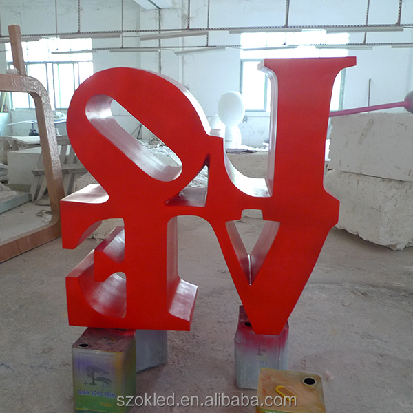 Valentines Day Red Heart Fiberglass Red Heart/love, Shopping Mall Valentine's day decoration